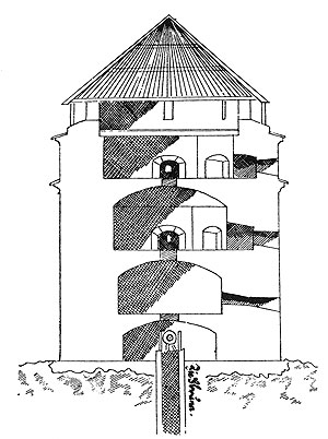Picture: Section through the tower on the Eggenberg