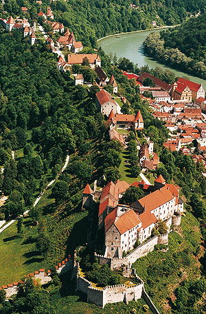Picture: Aerial picture of Burghausen Castle