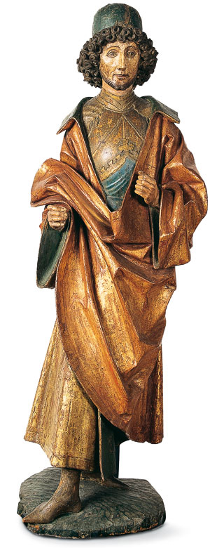 Picture: Chivalric saint, wooden sculpture
